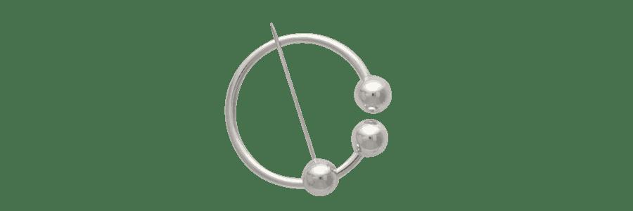 Kuglebroche sølv Kay Bojesen
