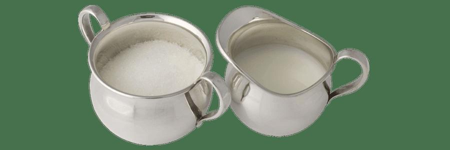 Sukker og flødesæt sølv Kay Bojesen